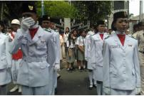 Paskibra Siantar Menangis karena Gagal Menaikkan Bendera