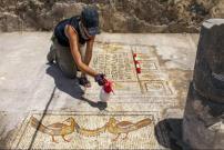 Ditemukan Mosaik 5 Roti dan 2 Ikan di Gereja Kuno di Galilea