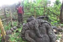 """BPCB Meneliti Arca """"Ganesha"""" yang Ditemukan Warga di Magetan"""