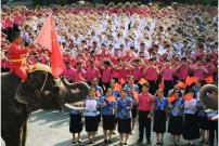 Pelajar Thailand Kirim Ucapan Hari Valentine Semangati China