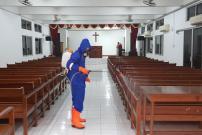 Lintas Agama Jakarta Gelar Penyemprotan Disinfektan Cegah COVID-19