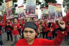 Buruh Jakarta Tuntut UMP 2017 Rp 3,8 Juta