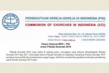 Pesan Pastoral PGI untuk Pilkada Serentak 2018