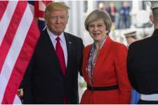 Pertemuan Trump-May Picu Protes Warga Inggris