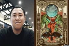 Ilustrator Asal Malang Menang Kontes Gambar Poster Film Spiderman: Far From Home