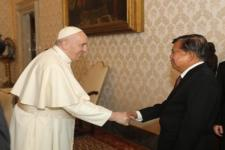 Mantan Wapres, Jusuf Kalla, Bertemu Paus Fransiskus