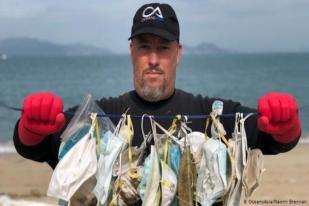 Sampah Masker Makin Banyak di Pantai Hong Kong