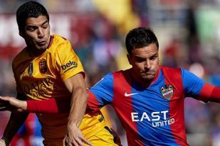 Barcelona Menjauh dari Kejaran Atletico, Permalukan Levante