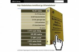 Badan Bahasa Kemendikbud Luncurkan KBBI Edisi IV Daring