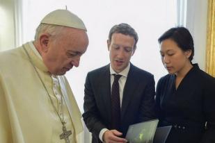 CEO Facebook Bertemu Paus Fransiskus di Vatikan