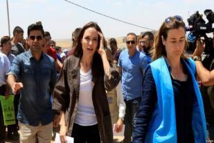 Utusan Badan Pengungsi PBB Angelina Jolie Kunjungi Mosul Irak