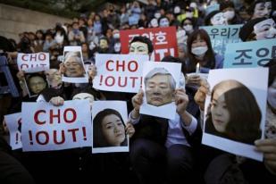 Karyawan Korean Air dan Asiana Airlines Unjuk Rasa