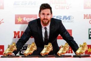Lionel Messi Raih Sepatu Emas Kelima