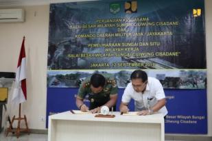 PUPR dan TNI Pelihara 11 Situ dan Sungai di Jabodetabek
