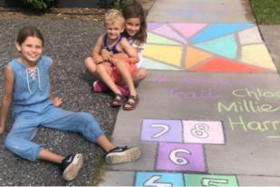 Pesan Kapur Anak-anak Australia Bangkitkan Semangat Perangi Corona