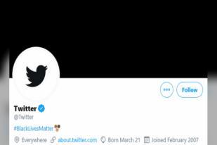 Solidaritas untuk Gerakan Hitam AS, Twitter Ubah  Warna Logo Jadi Hitam