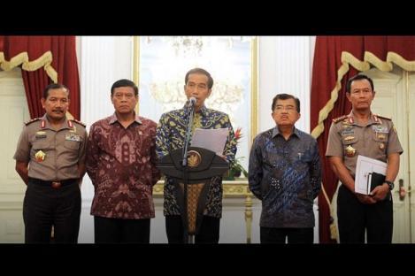 Presiden Ingatkan Polri-KPK Jangan Sok di Atas Hukum