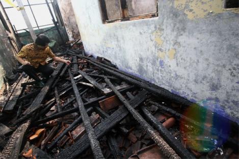 Kak Seto Datangi Kantor Komnas Perlindungan Anak yang Terbakar
