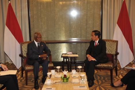 Jokowi Bertemu Mantan Sekjen PBB Bahas Rohingya