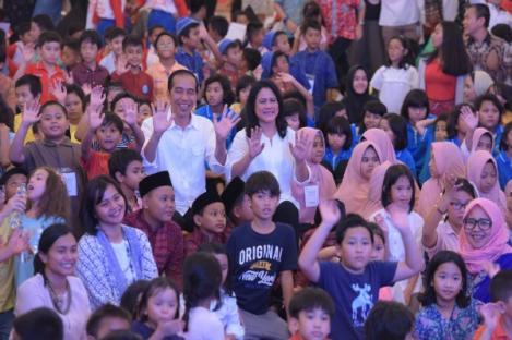 Presiden Jokowi Ingin Ada Lagi Lagu Anak-Anak Indonesia