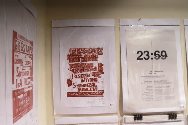 Satu Harapan Kisah Di Balik Selembar Poster Dalam Pameran Masa