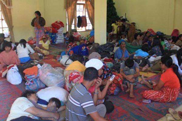 GBKP Bangun Posko untuk Pengungsi Gunung Sinabung