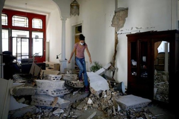 Ratusan Ribu Warga Beirut Kehilangan Rumah Akibat Ledakan