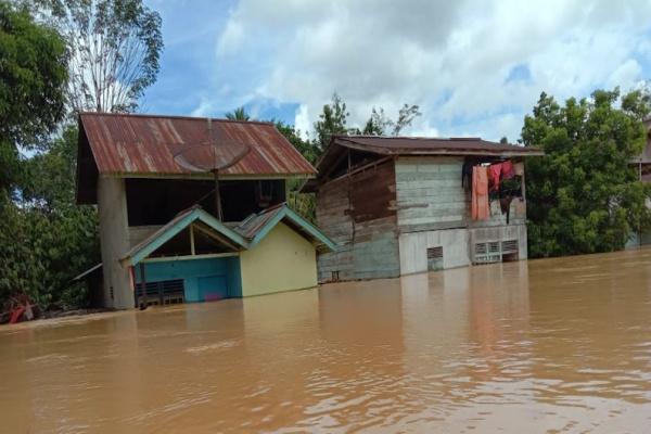Hujan Deras Akibatkan Banjir di Kalimantan Barat dan Sumatera Barat,