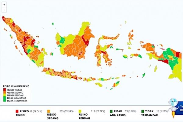 Situasi COVID-19 Indonesia: Kasus Baru 4.002, Sembuh 3.567