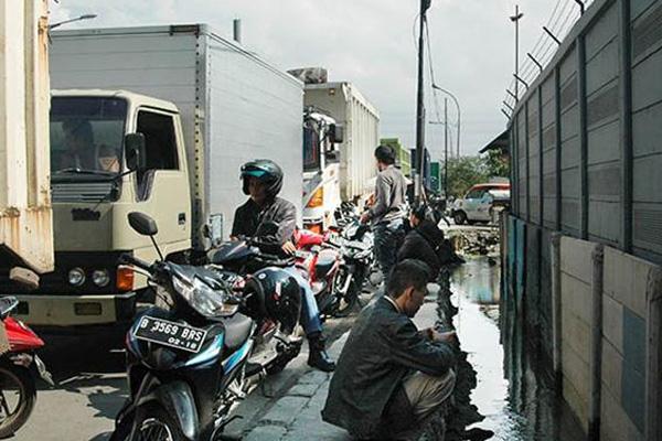 Kemacetan di Pelabuhan Tanjung Priok