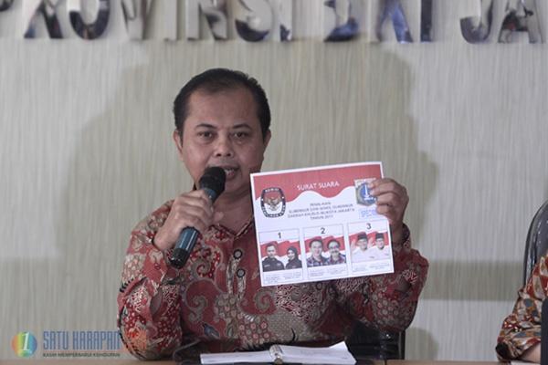KPU DKI Luncurkan Surat Suara Calon Gubernur dan Wakil Gubernur