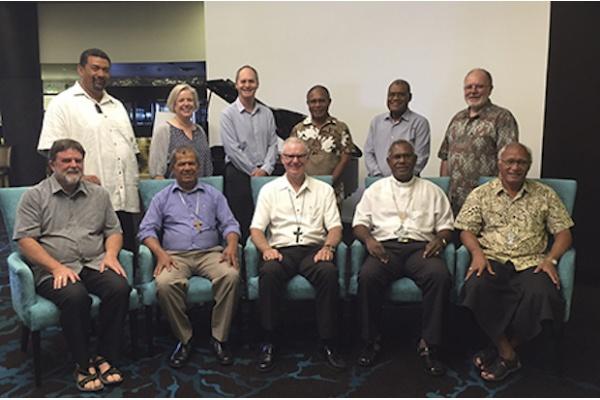 Lima uskup agung Gereja Anglikan Oseania bertemu di Tweed Heads, Australia, pada 6 Maret 2017 (Foto: Abp Philip Freier)