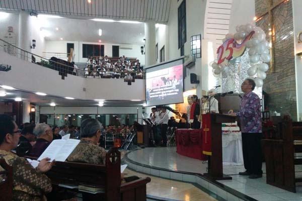 Kebinekaan Warnai Kebaktian Syukur GKI Maulana Yusuf
