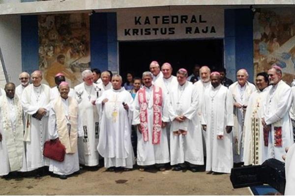 Kunjungan uskup-uskup negara-negara Melanesia ke Jayapura. (Foto: Catholic Leader)