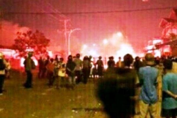 Kerusuhan di Manokwari pada 26 Oktober 2016 (Foto: Ist)
