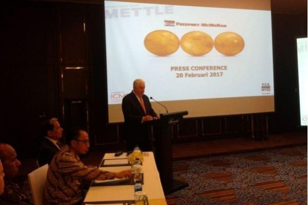 Ilustrasi. CEO Freeport McMoran, Richard C. Adkerson saat, konferensi pers di Ruang Jade lantai 2 Fairmont Hotel, Senayan, Jakarta, hari Senin (20/2). (Foto: Melki Pangaribuan)