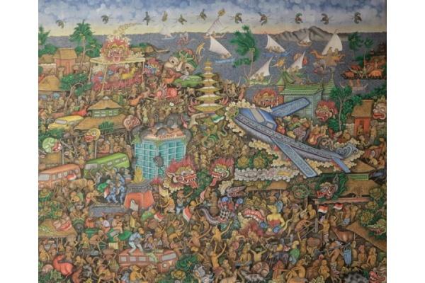"""""""Sadulur Rupa"""" Tarian Ubud-Batuan di Atas Kanvas"""