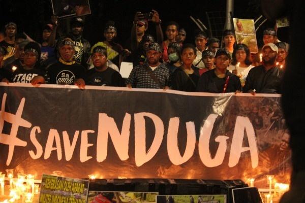 Solidaritas #SaveNduga Ibadah Kasih di Depan Istana Negara
