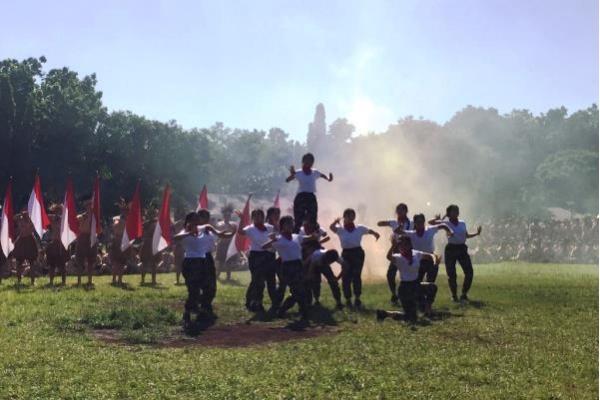 Siswa SLTAK Unjuk Nusantara di Raimuna BPK PENABUR Jakarta