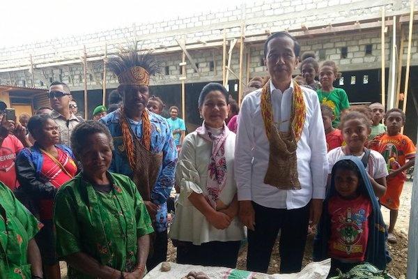 Kunjungan Presiden Jokowi di Arfak Papua