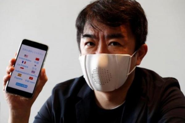 Jepang Ciptakan Masker Cerdas Terkoneksi Internet