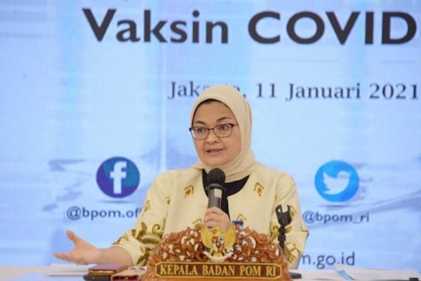 BPOM Beri Persetujuan Penggunaan Darurat Vaksin Sinovac