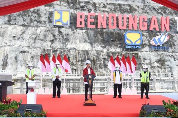Jokowi Resmikan Bendungan Tapin, Kalimantan Selatan
